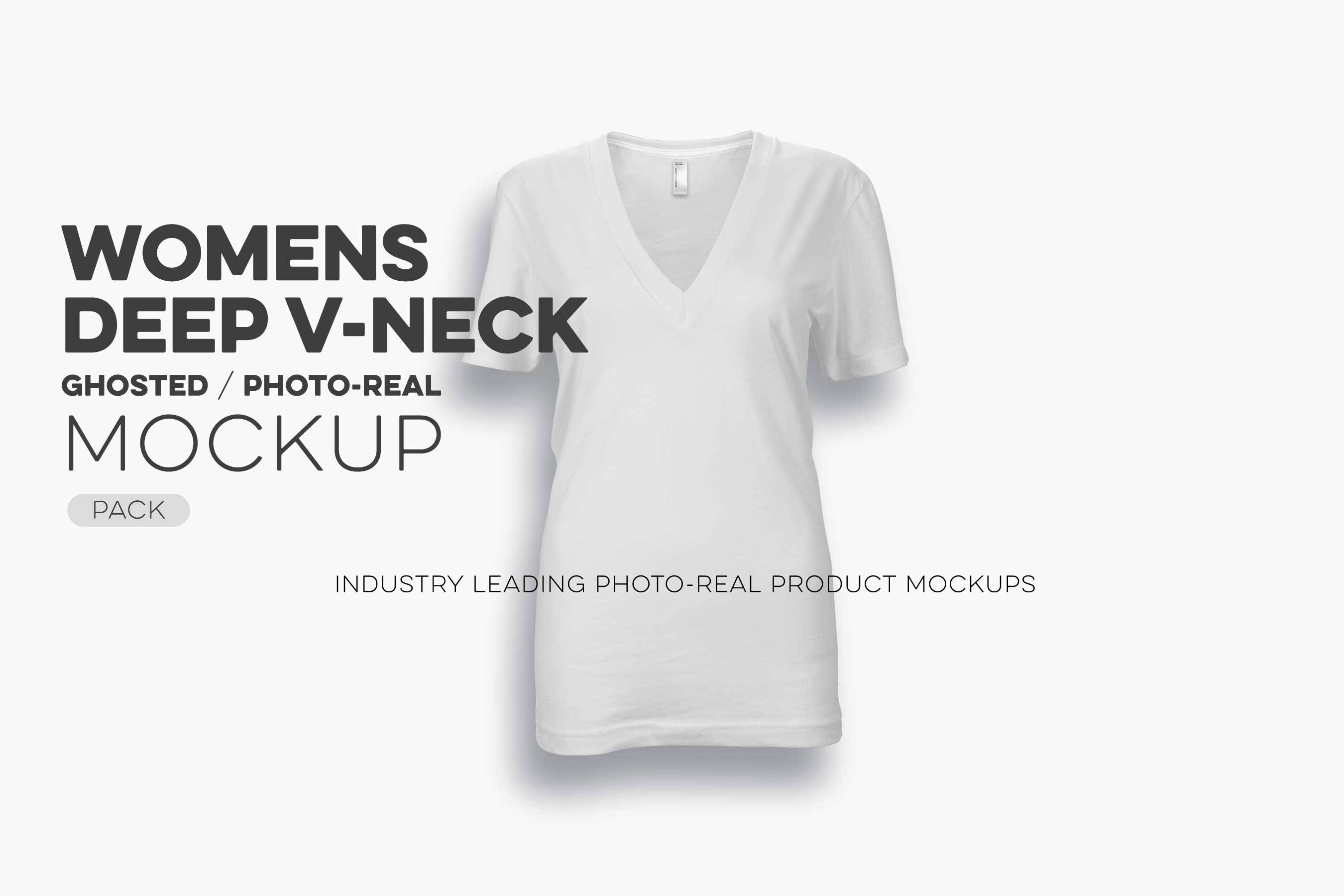 V Neck T Shirt Mockup Template