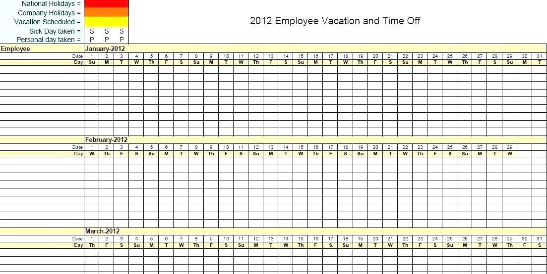 Vacation Accrual Tracking Template