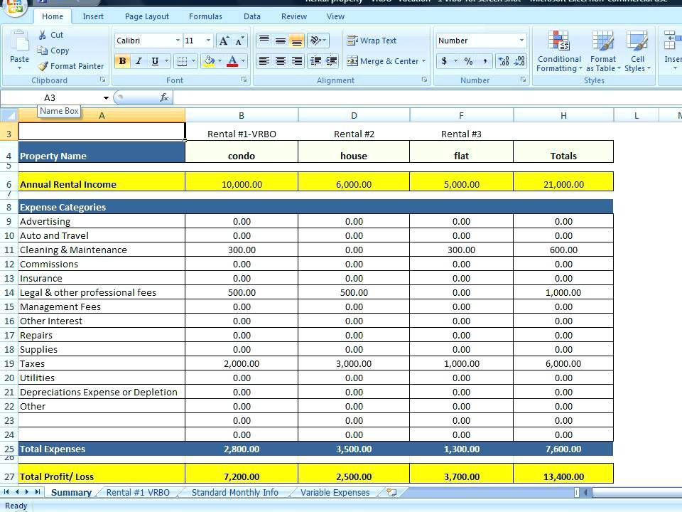 Vacation Budget Template Excel