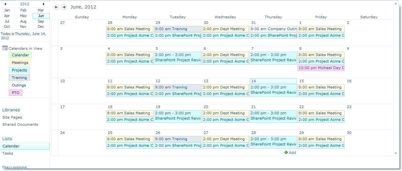 Vacation Calendar Template Sharepoint