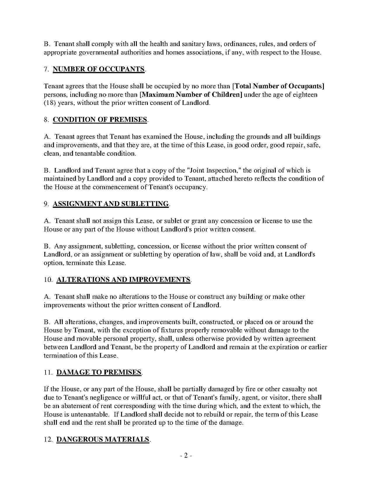 Vacation Rental Agreement Template Free