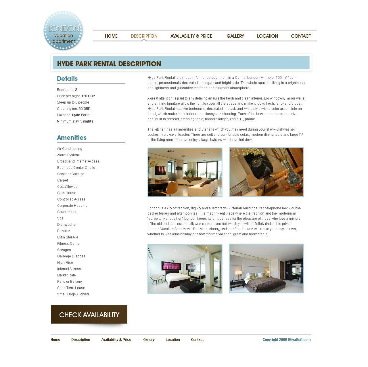Vacation Rental Web Templates