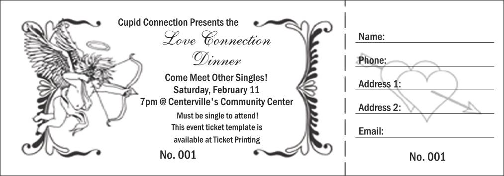 Valentine's Dance Ticket Template