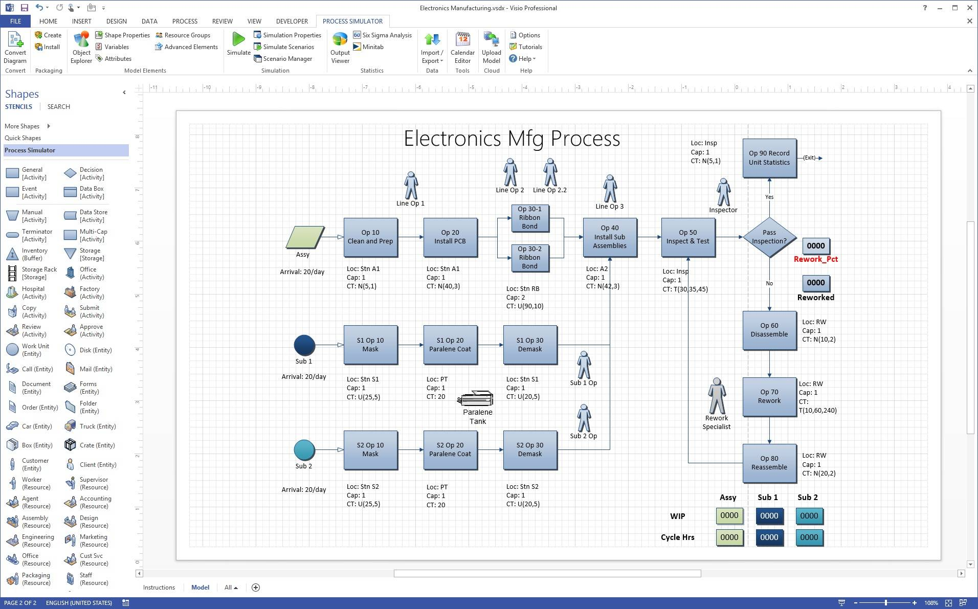 Value Stream Map Symbols Visio 2003