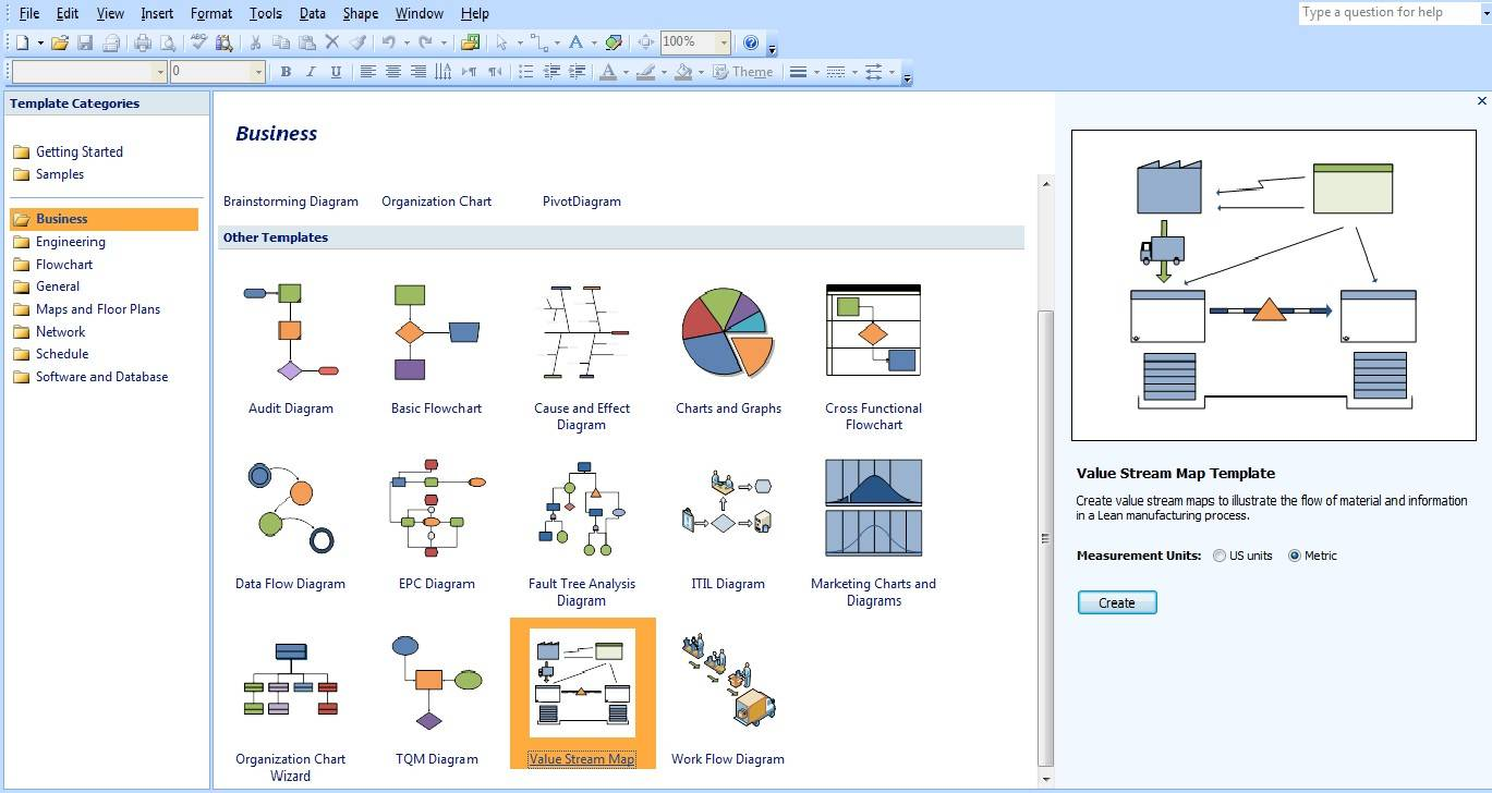 Value Stream Map Symbols Visio 2010