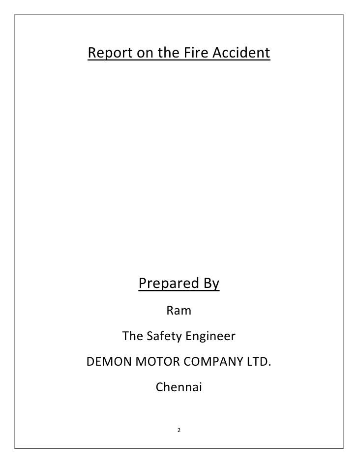 Vehicle Accident Report Example