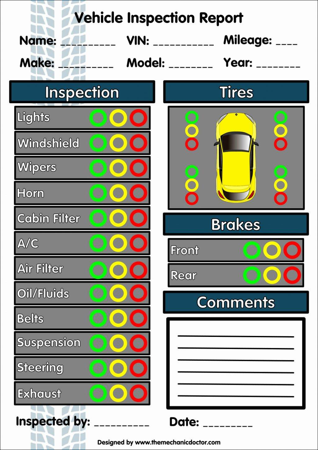 Vehicle Checklist Template Download