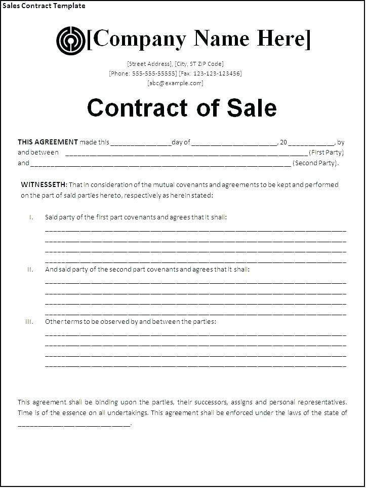 Vehicle Contract Hire Agreement Template