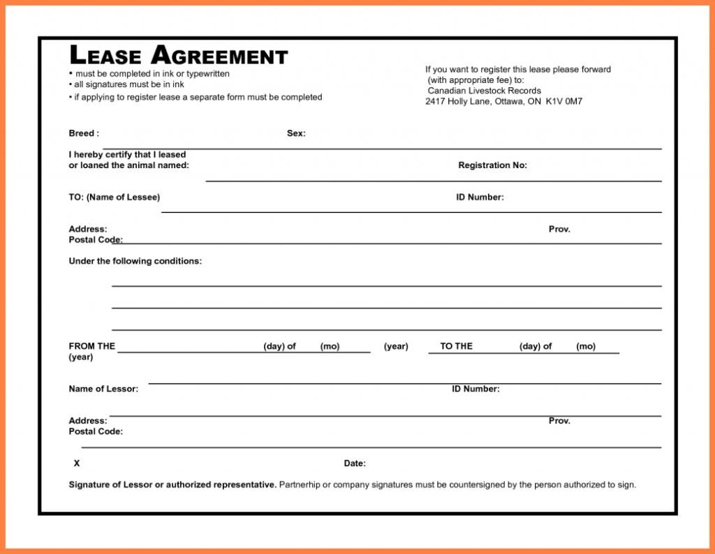 Vehicle Lease Agreement Template Texas
