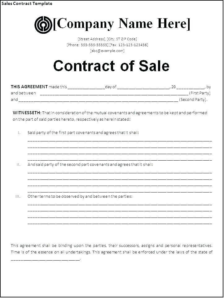 Vehicle Sales Agreement Template Word