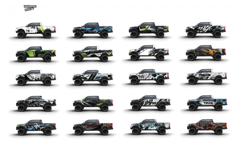 Vehicle Wrap Design Templates