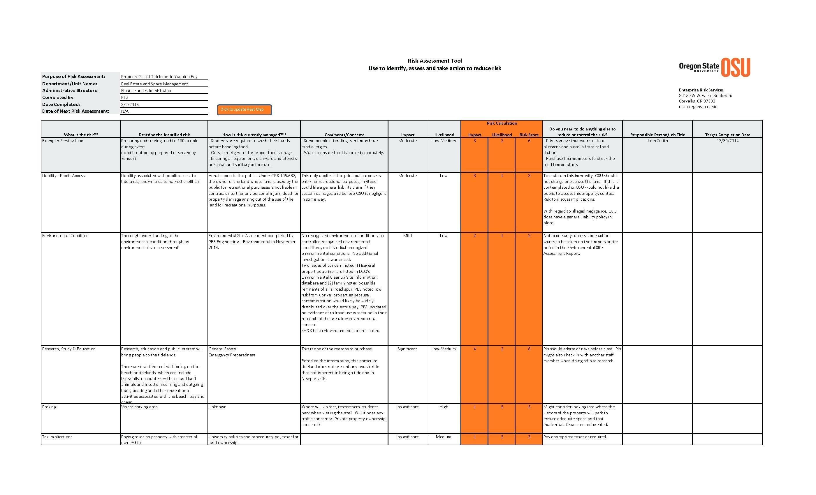 Vendor Assessment Template Xls