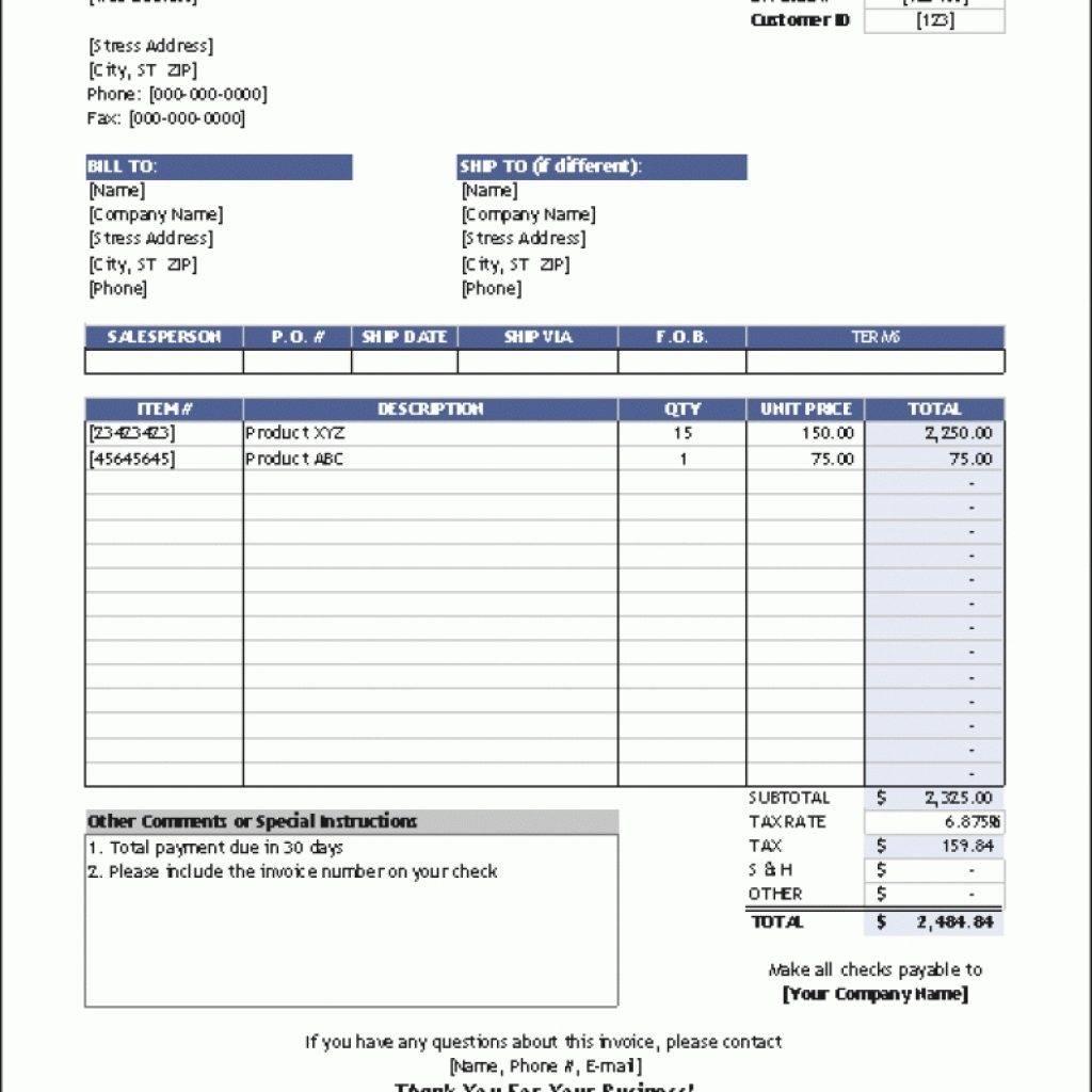 Vendor Invoice Tracking Template