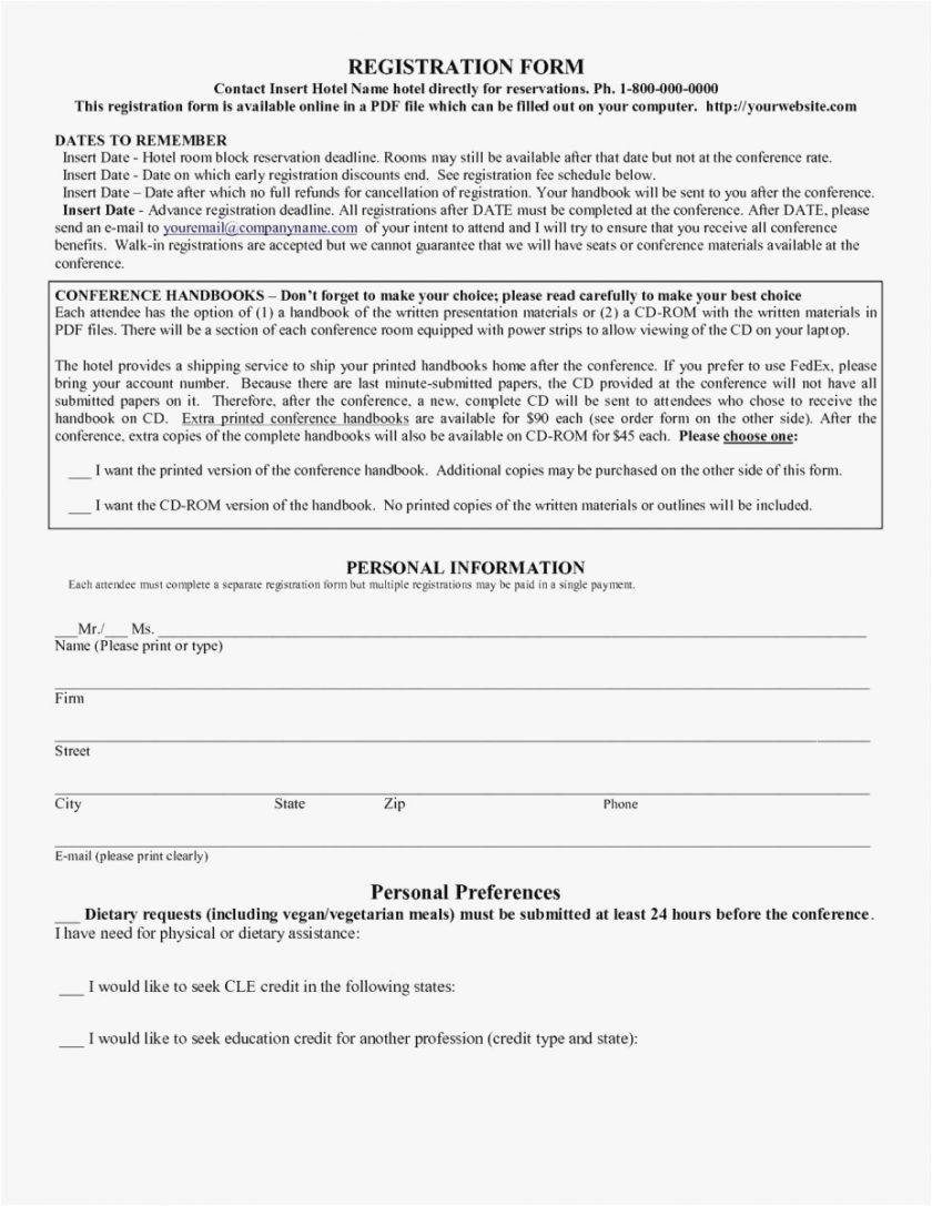 Vendor Registration Form Template Free