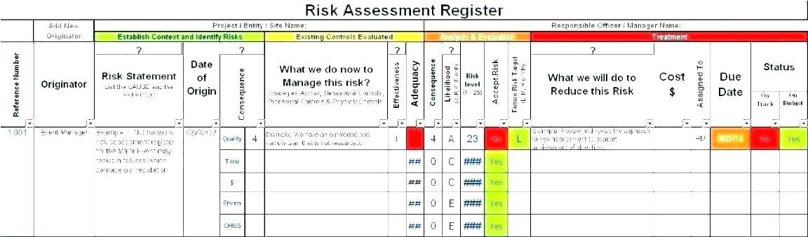 Vendor Risk Assessment Matrix Template