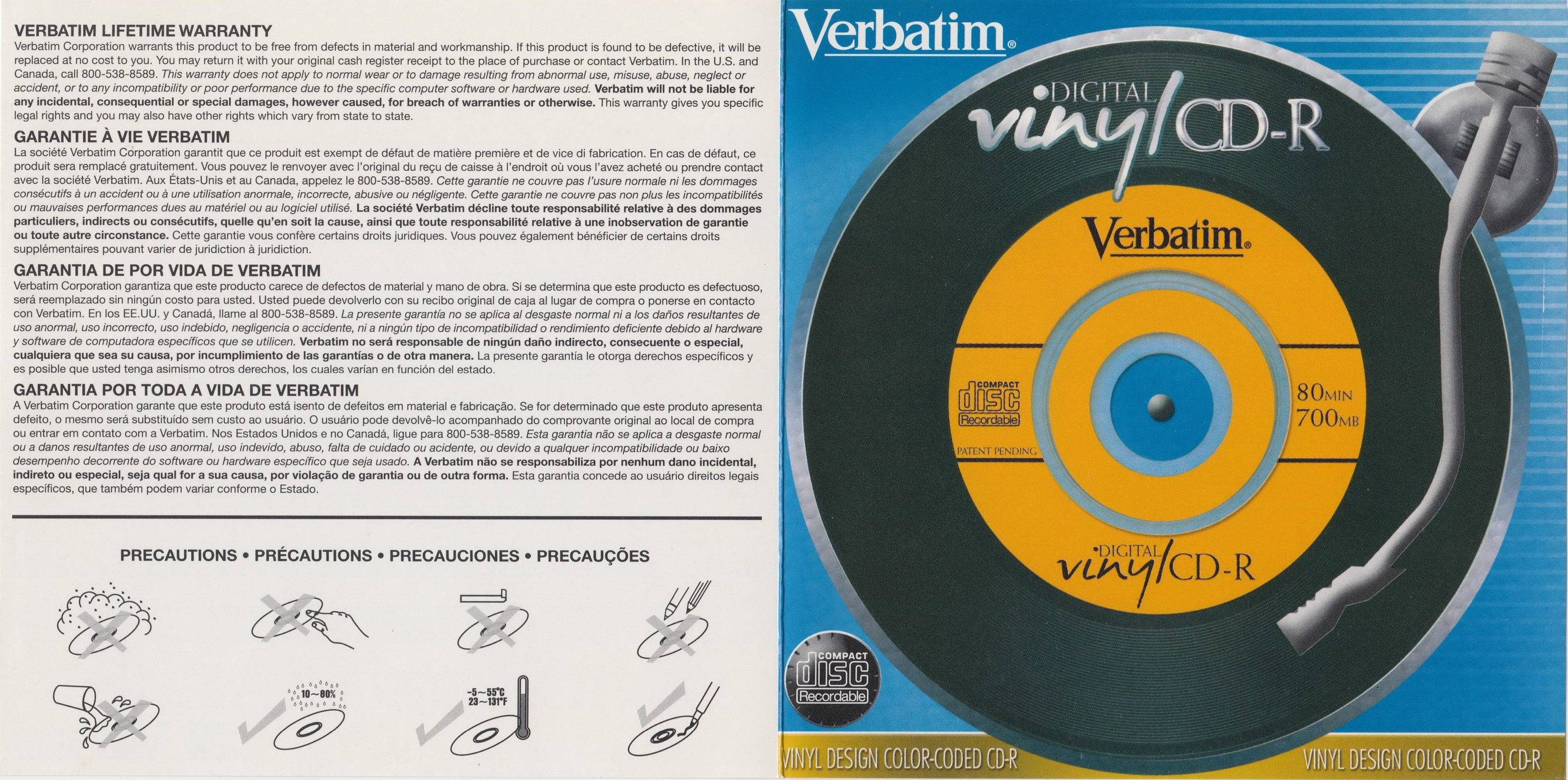 Verbatim Vinyl Cd Label Template