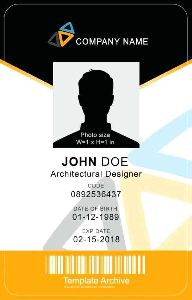 Vertical Badge Template