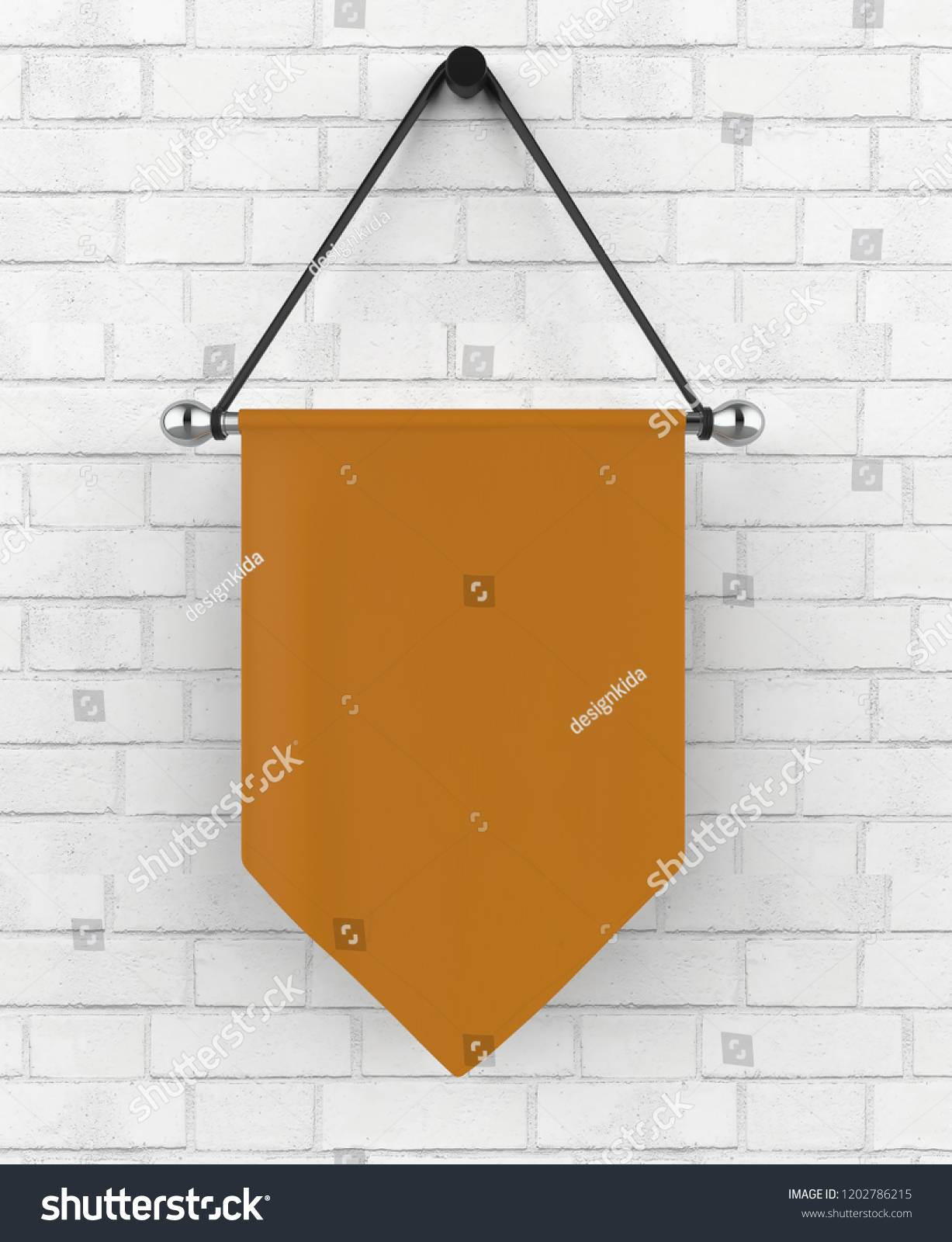 Vertical Flag Banner Template