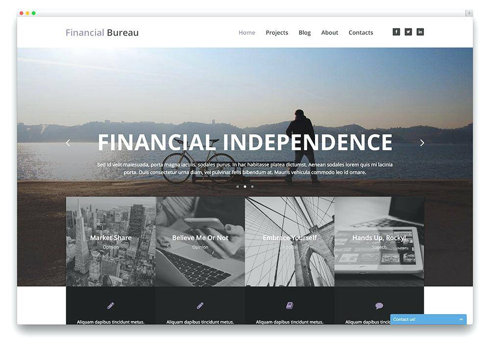 Vertical Scrolling Website Template Free