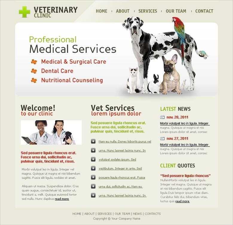 Veterinary Website Templates Free