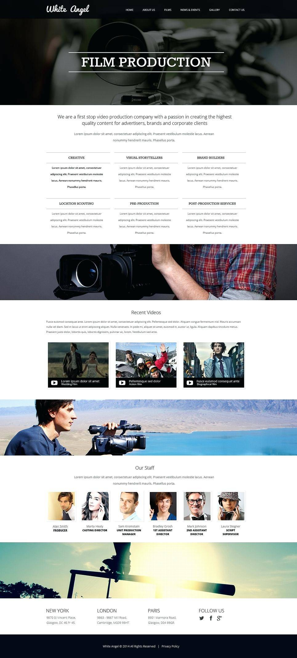 Videographer Website Template Free Download
