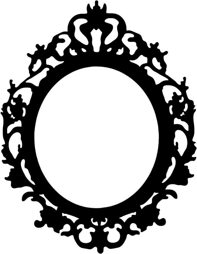 Vintage Oval Picture Frame Template