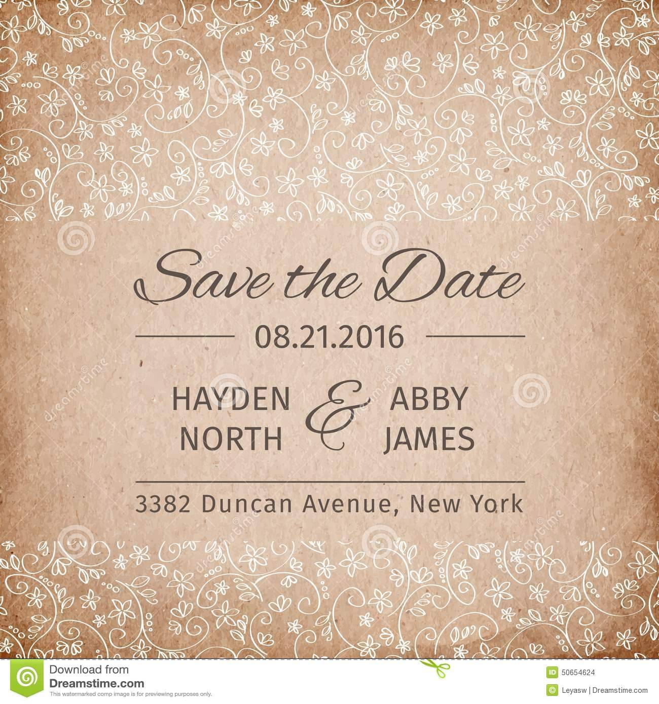 Vintage Save The Date Templates Free