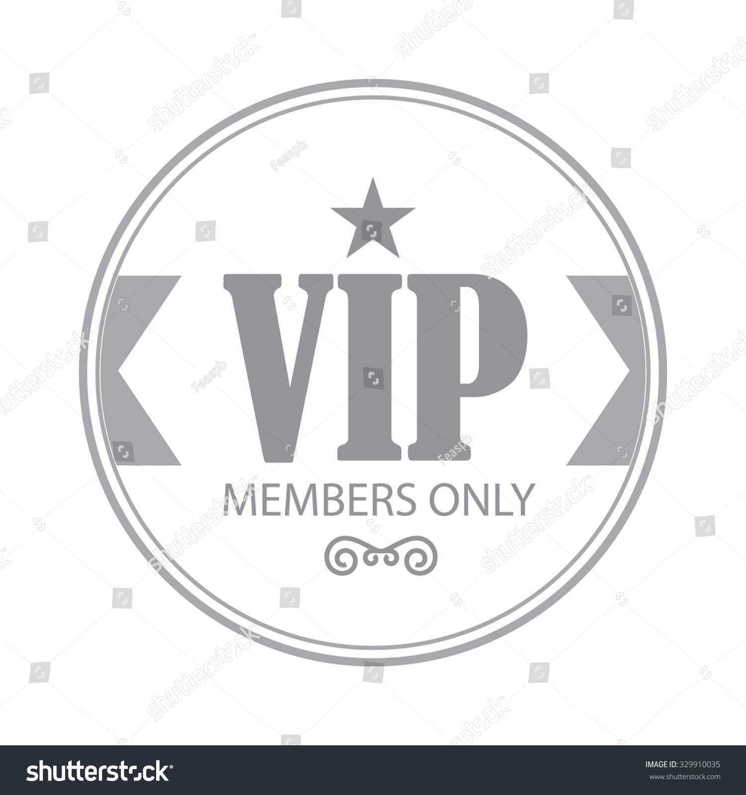 Vip Badge Template
