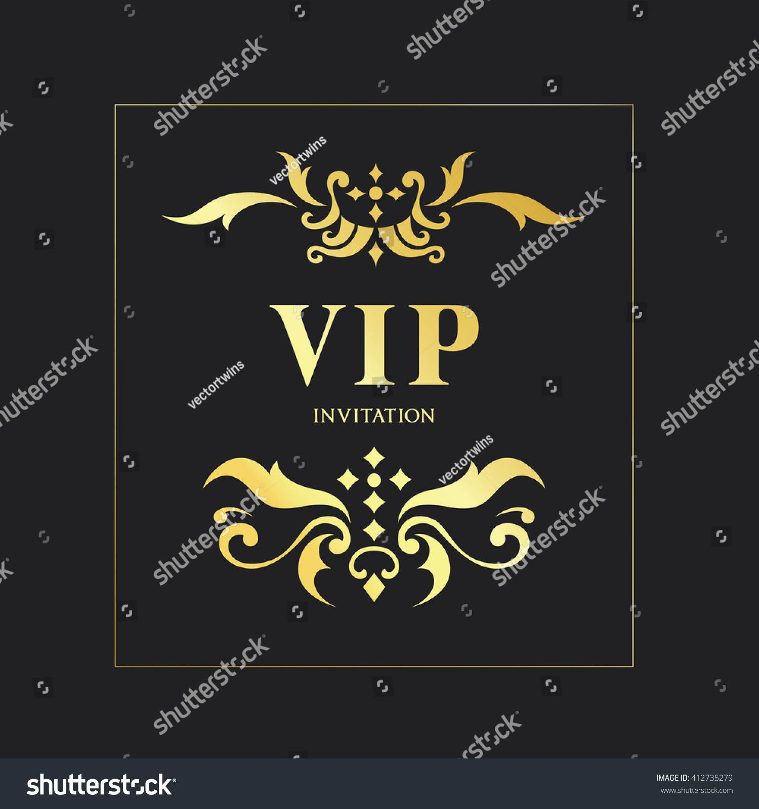 Vip Invitation Card Template Free