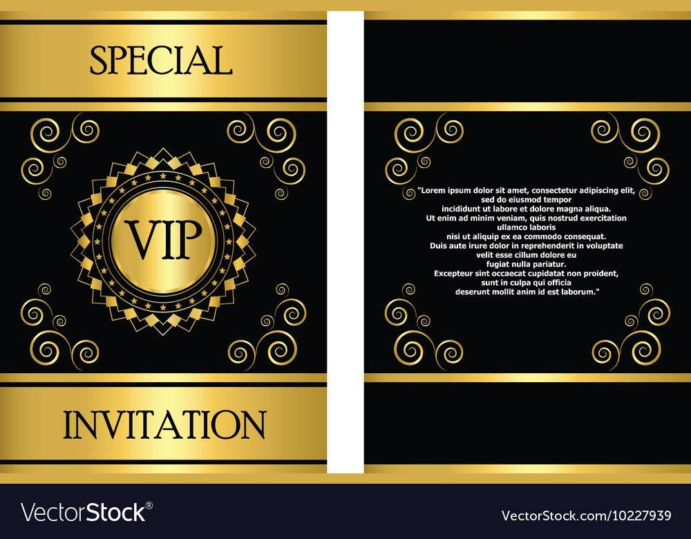 Vip Invitation Template Psd