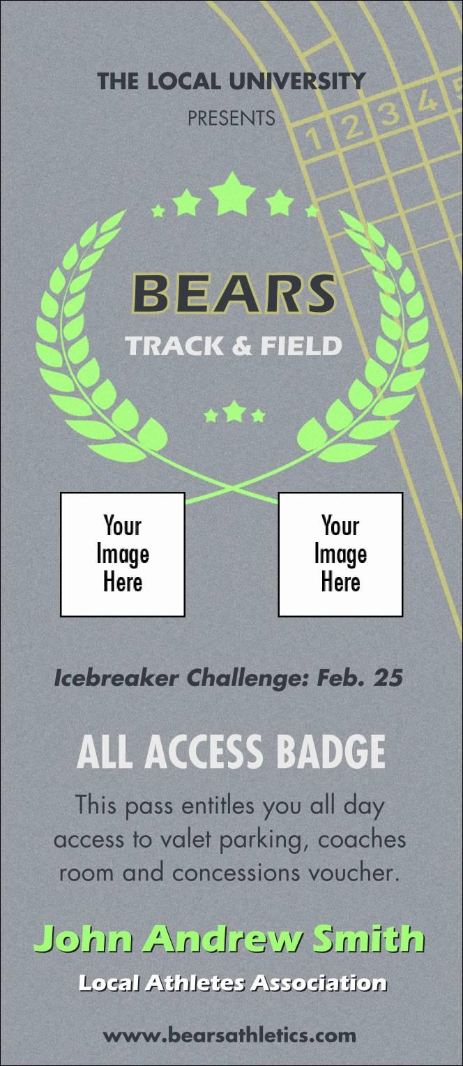 Vip Name Badge Template