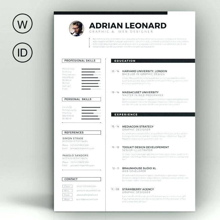 Visual Resume Powerpoint Templates