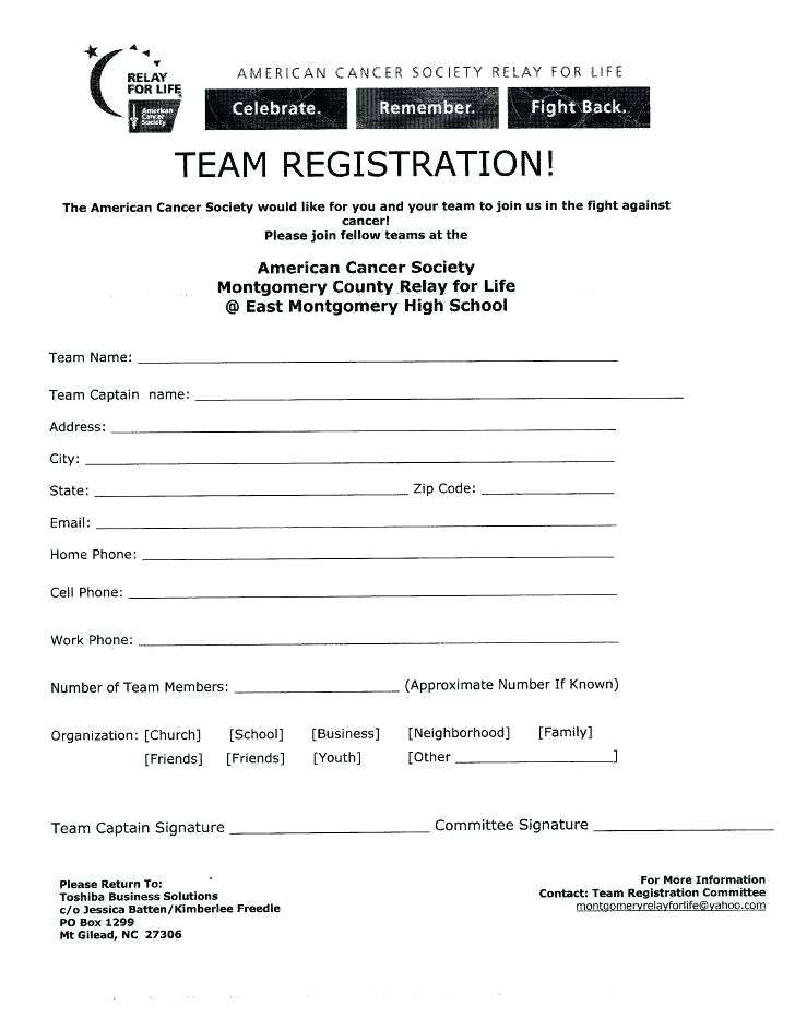 Volleyball Camp Registration Form Template