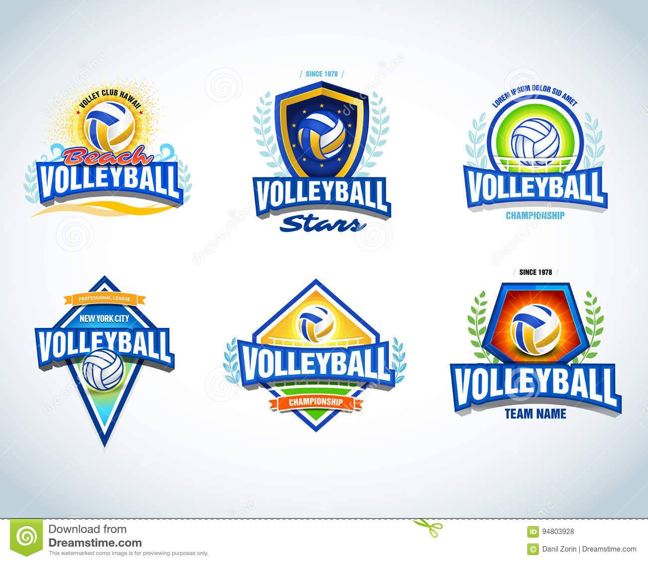 Volleyball Logo Design Templates