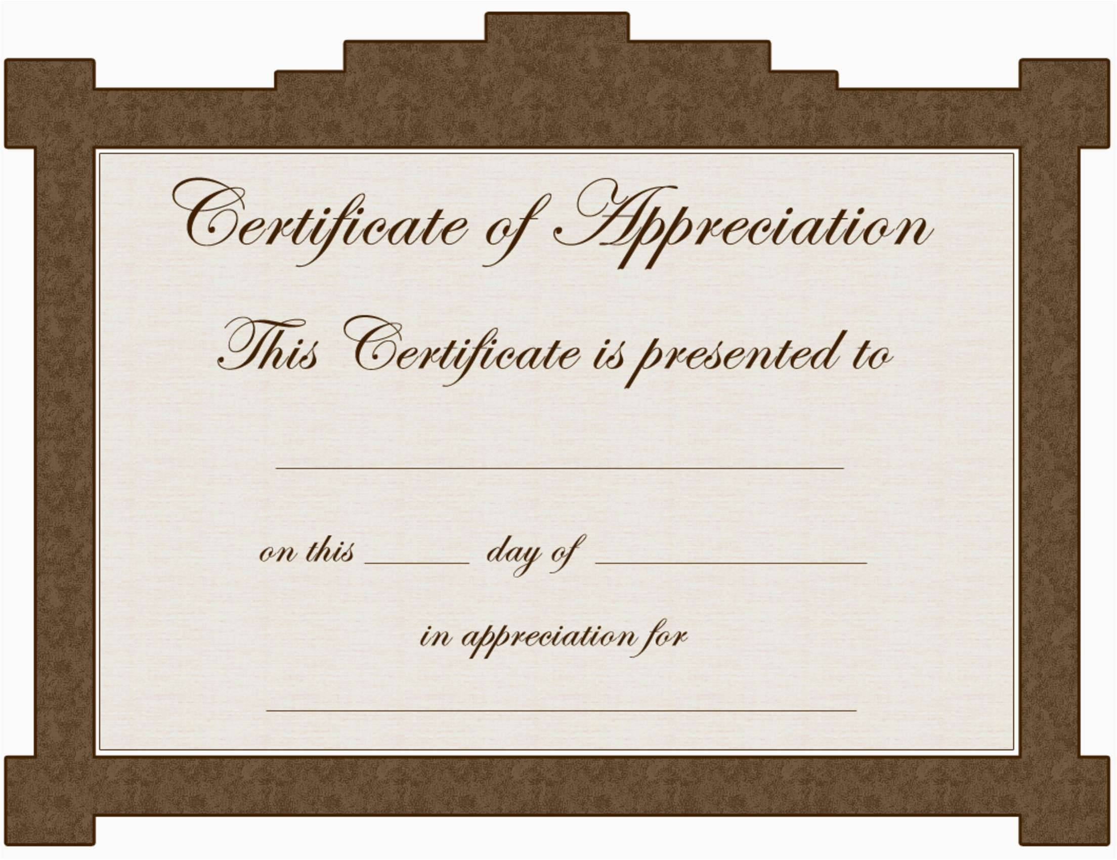 Volunteer Certificates Of Appreciation Templates
