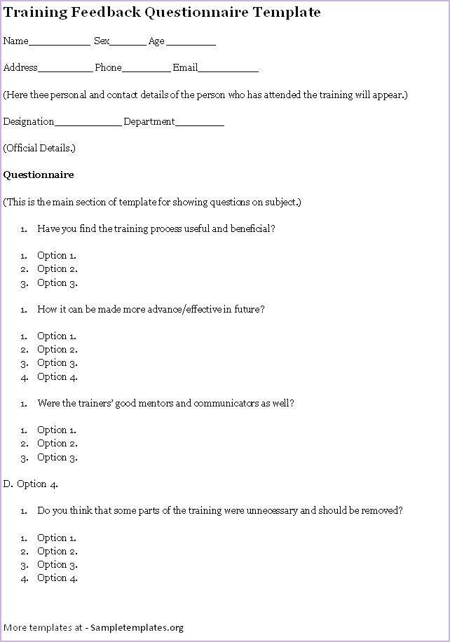 Volunteer Satisfaction Survey Template