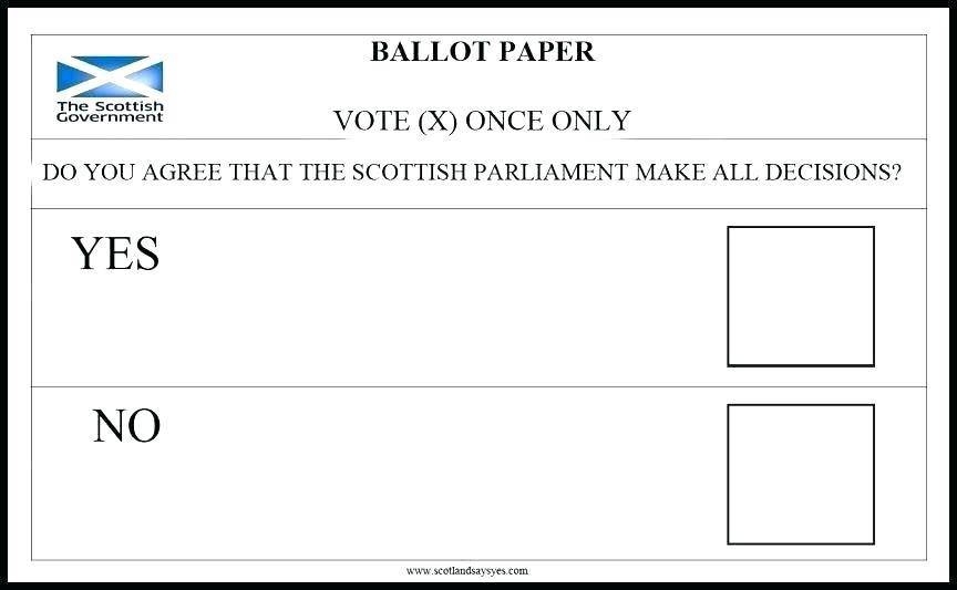 Voters Ballot Template