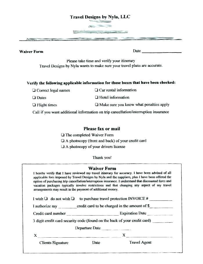 Waiver Of Liability For Personal Injury Template