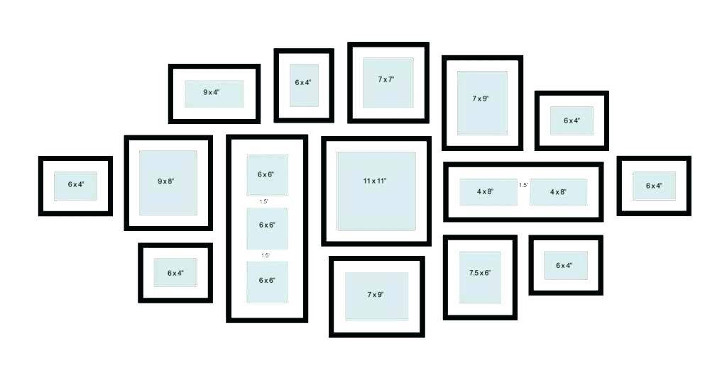 Wall Picture Frame Collage Template