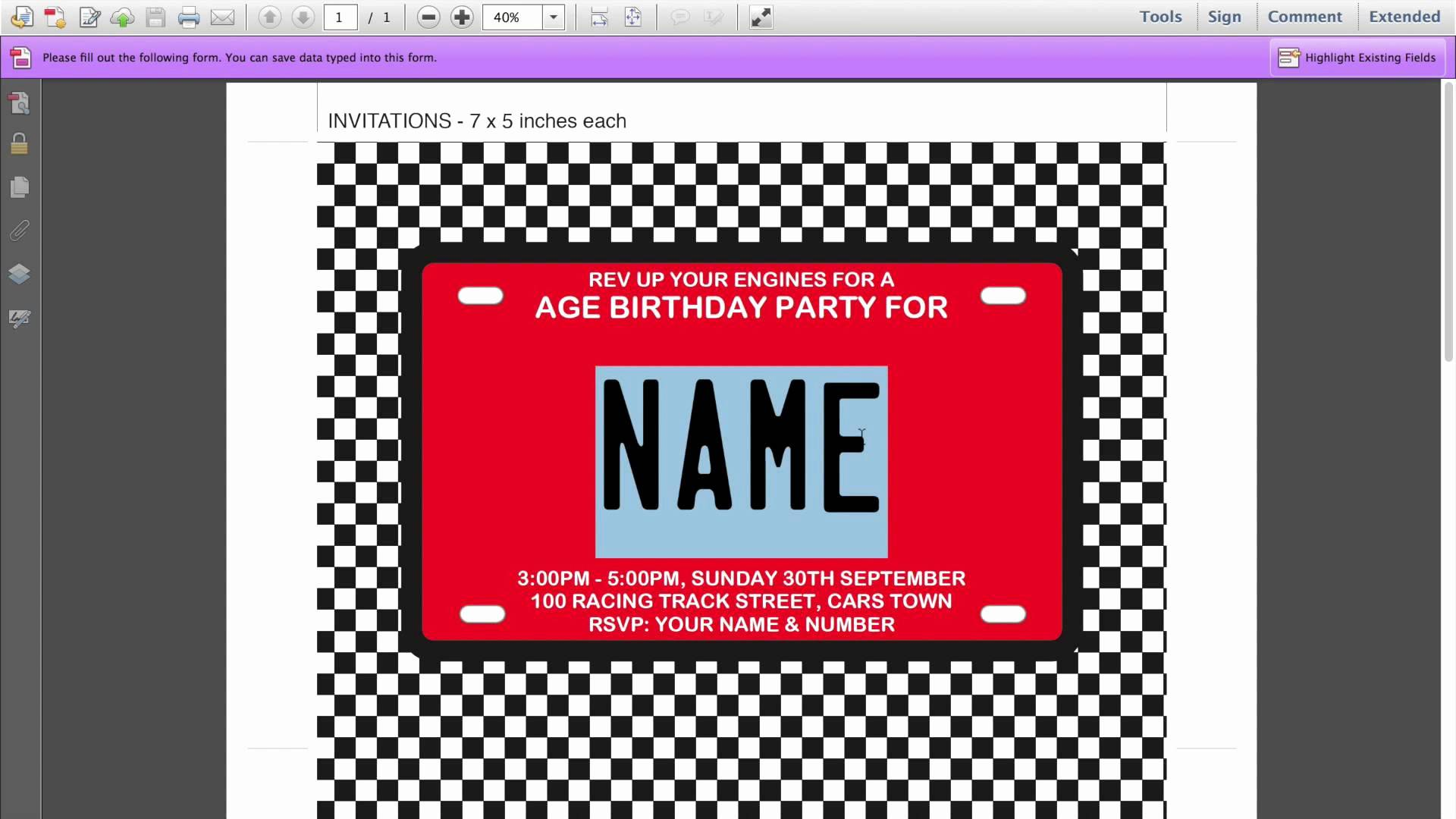 Wanted Poster Birthday Invitation Template