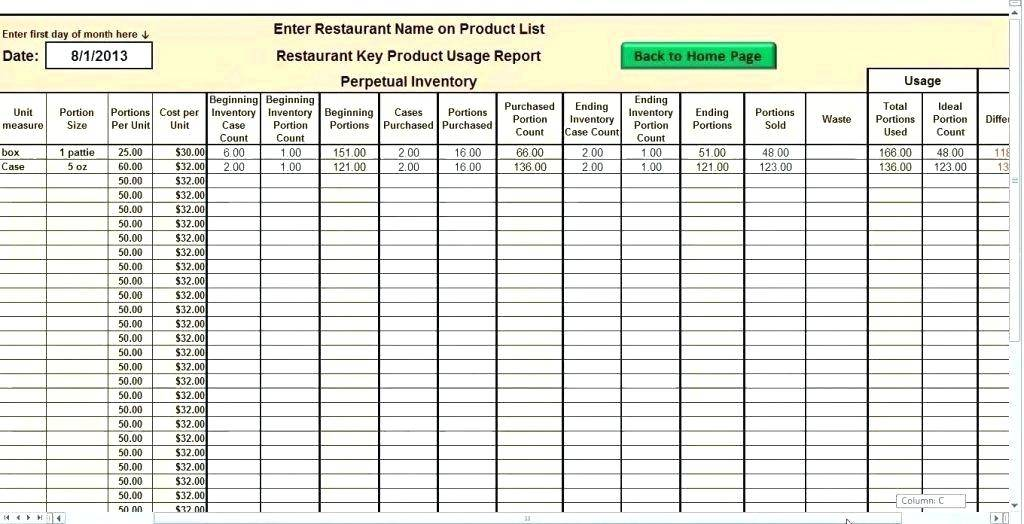 Warehouse Inventory Control Excel Template