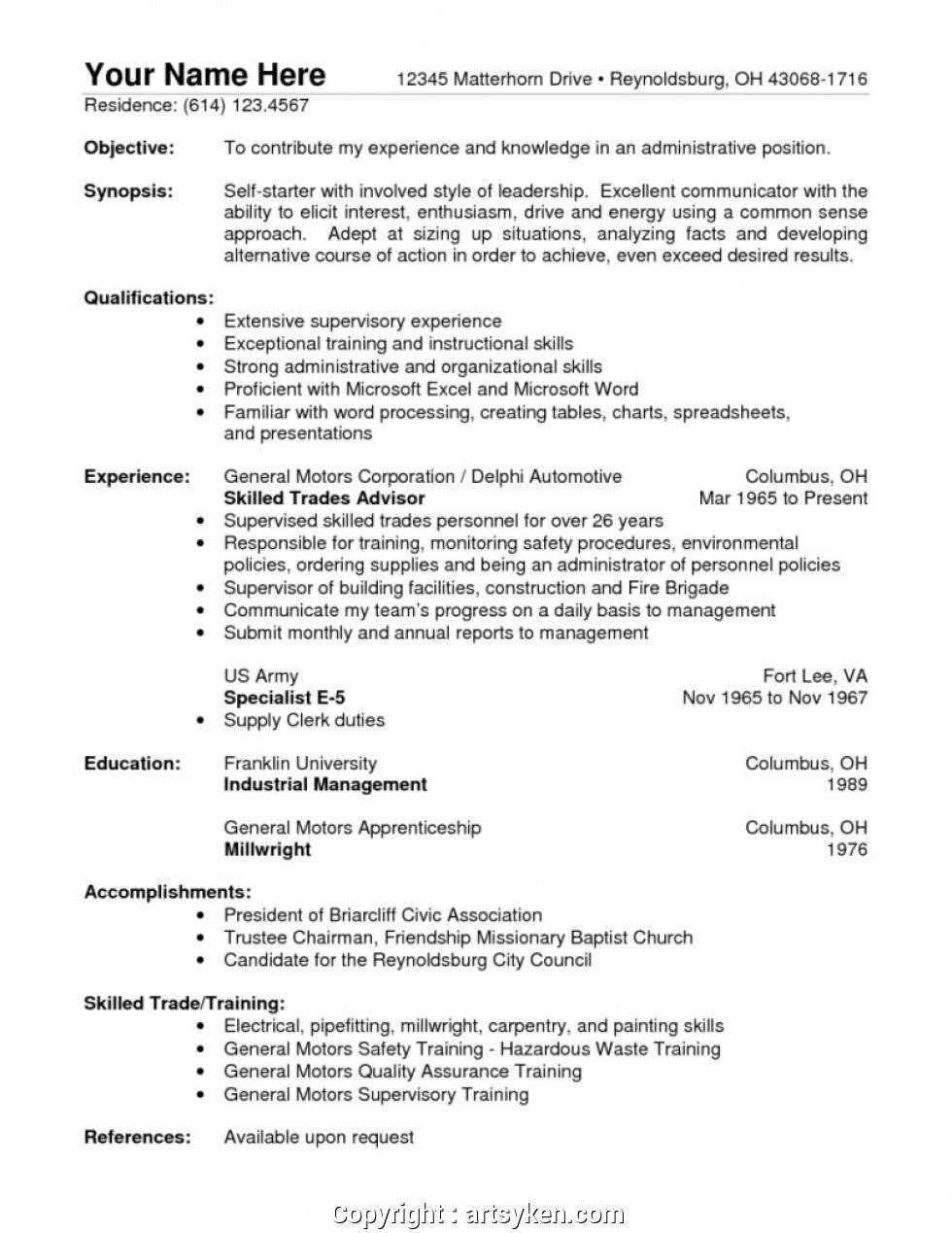Warehouse Manager Job Description Resume Sample