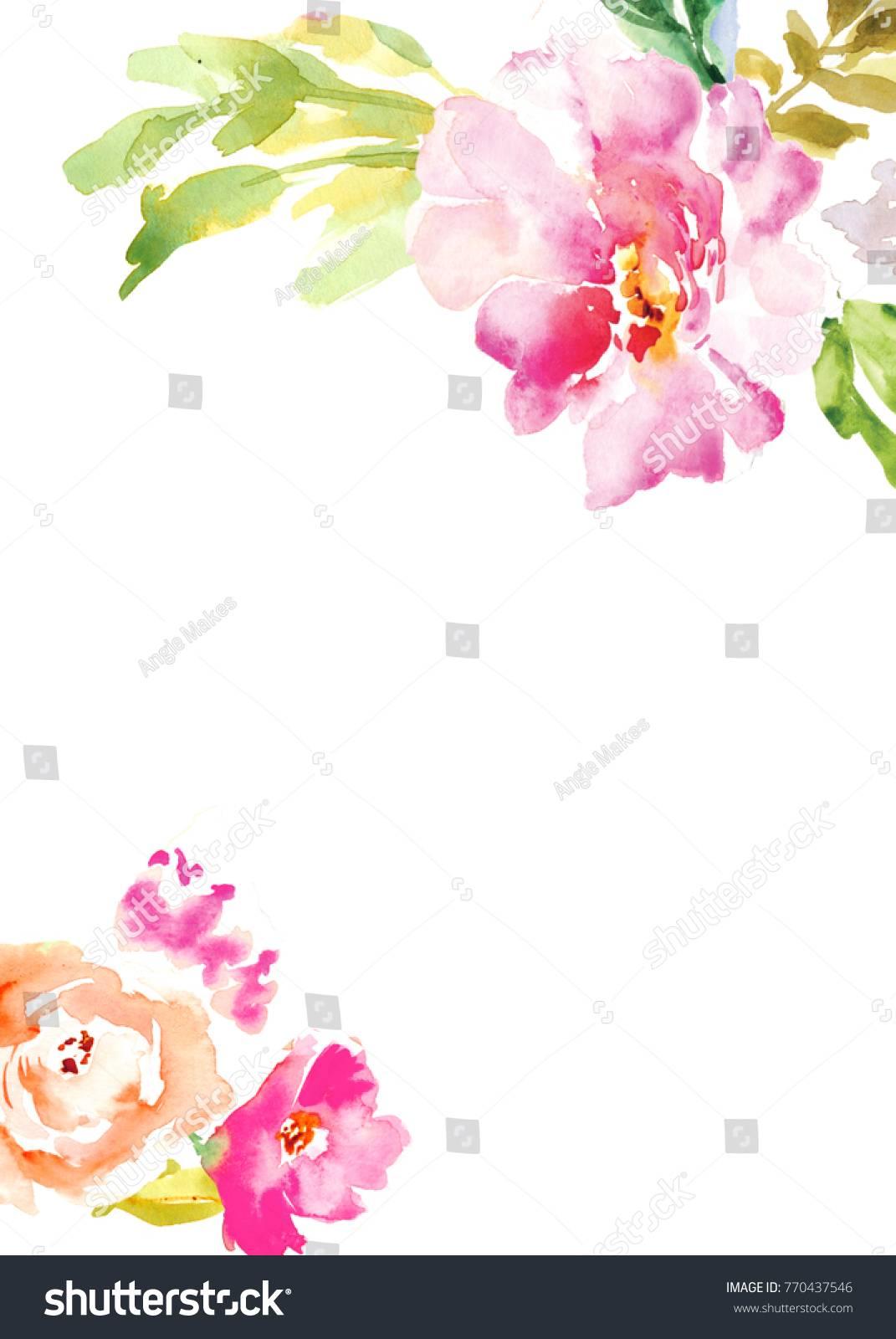 Watercolor Flower Invitation Template