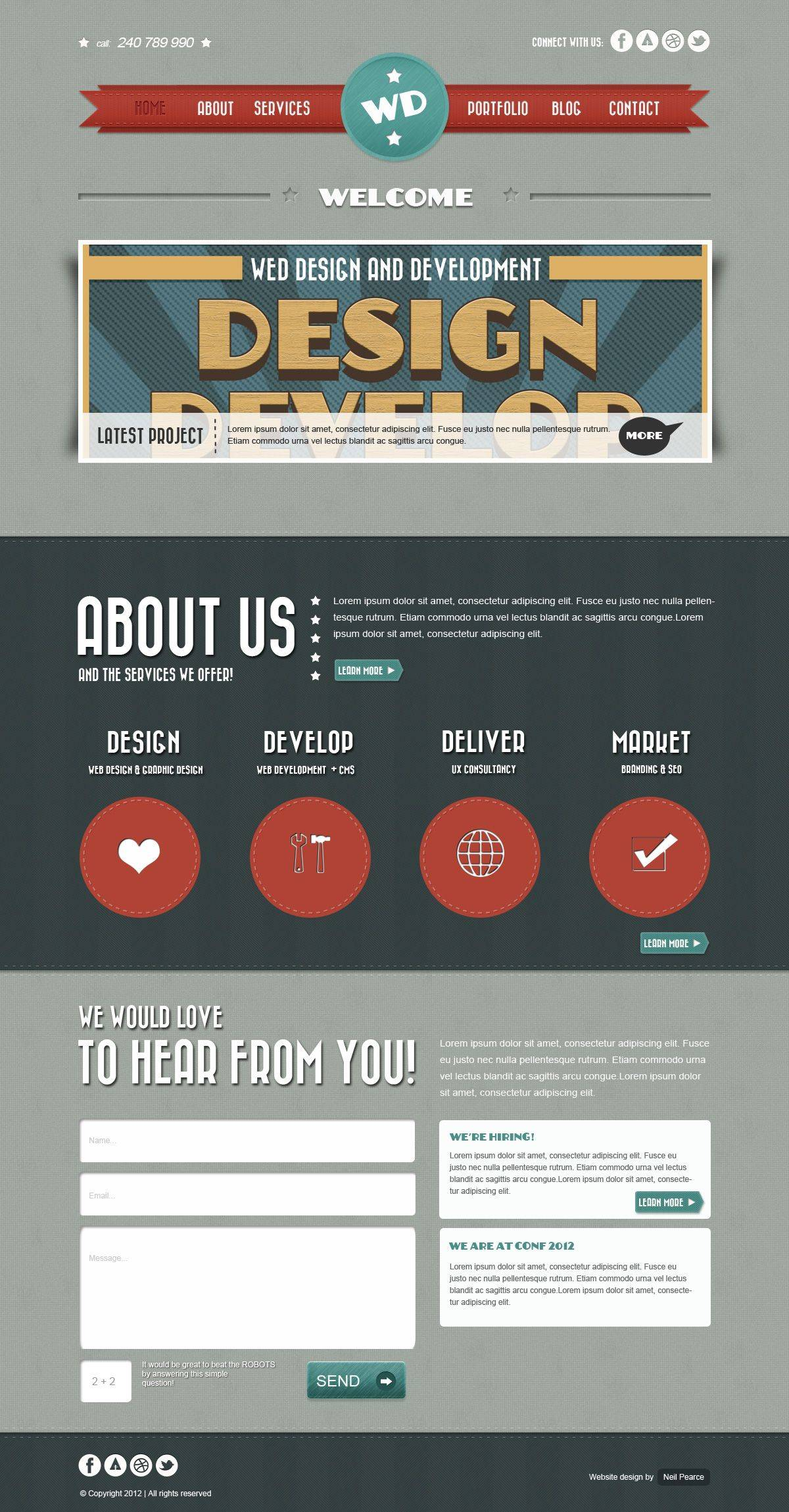 Web Design Layout Psd