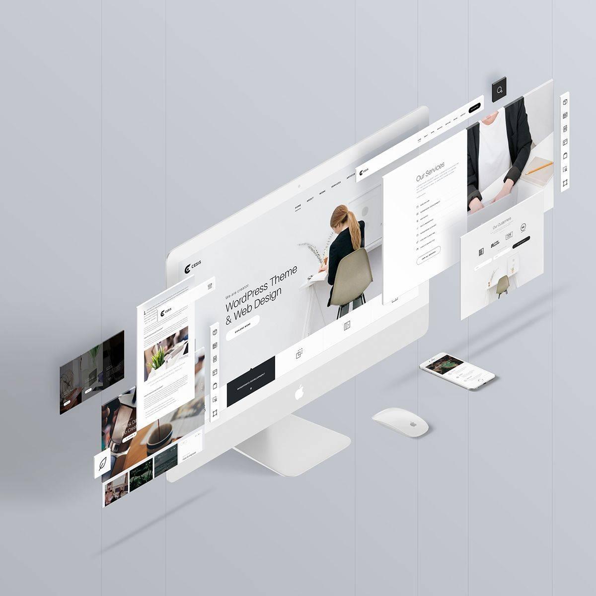 Web Design Mockup Template