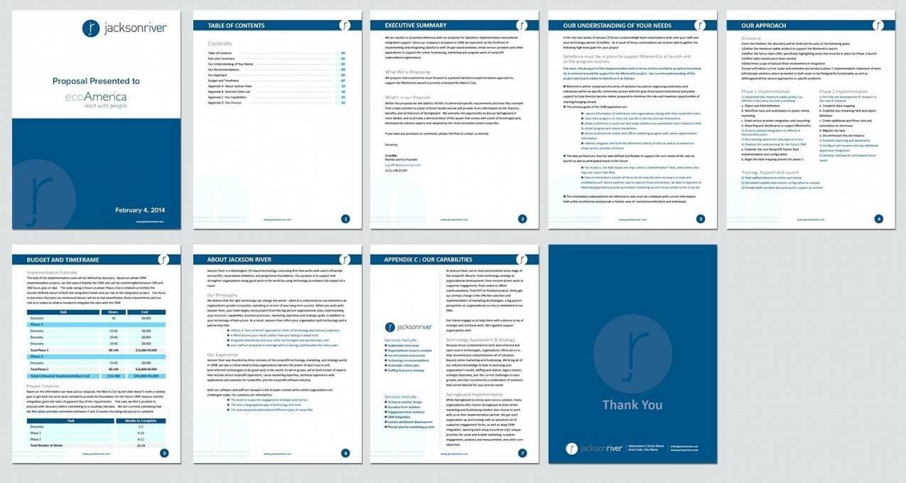 Web Design Proposal Template Word