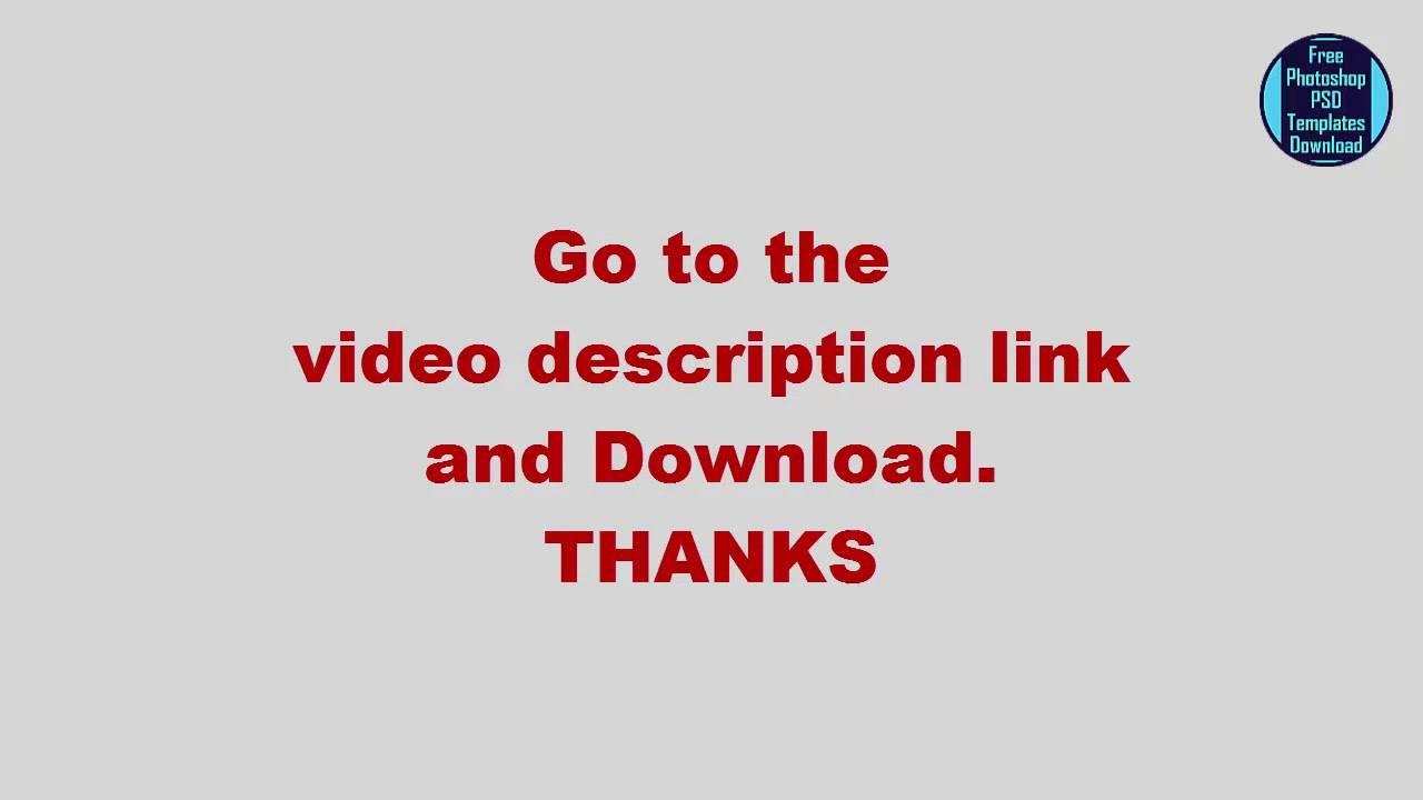 Web Design Templates Psd File Free Download