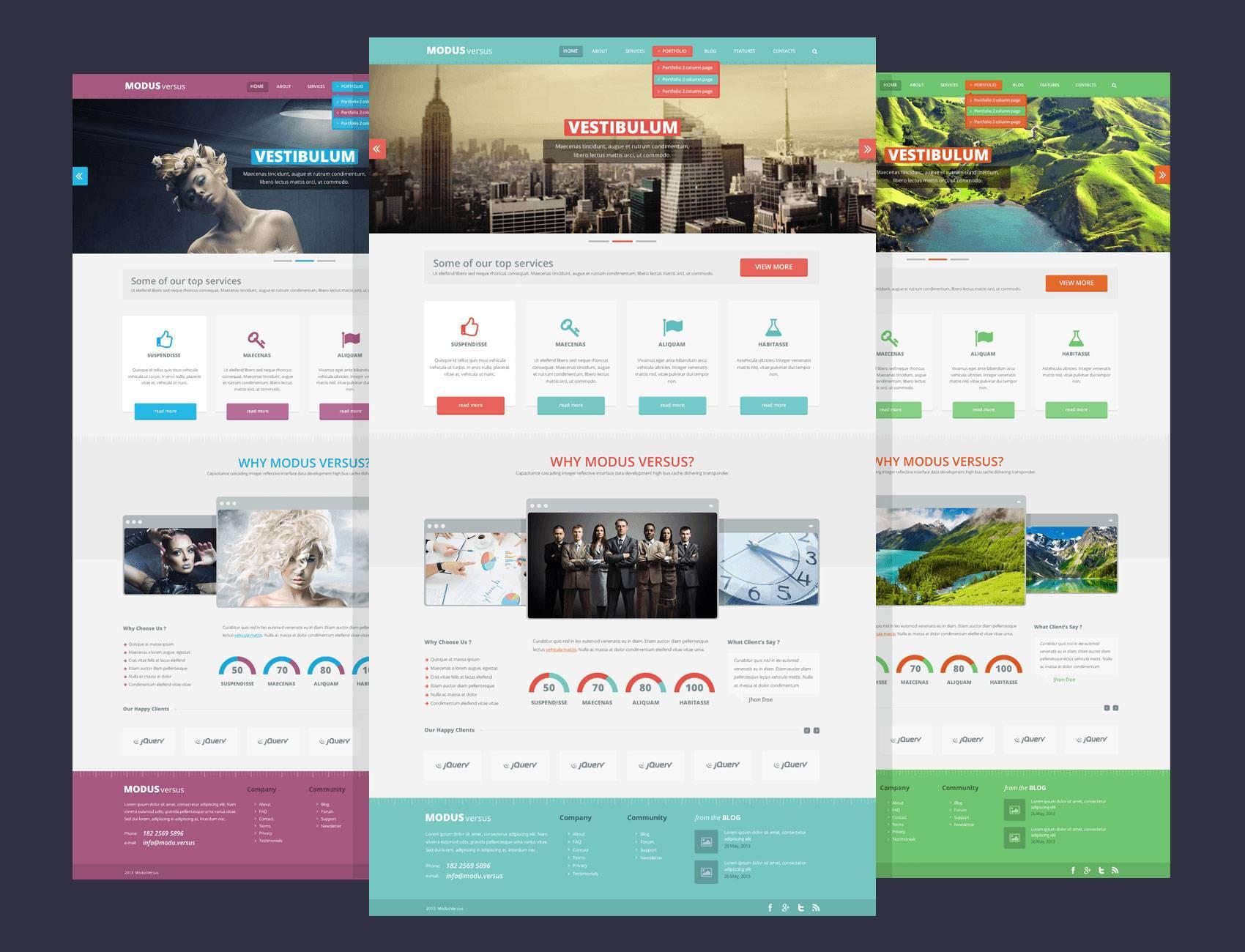Web Design Templates Psd Files