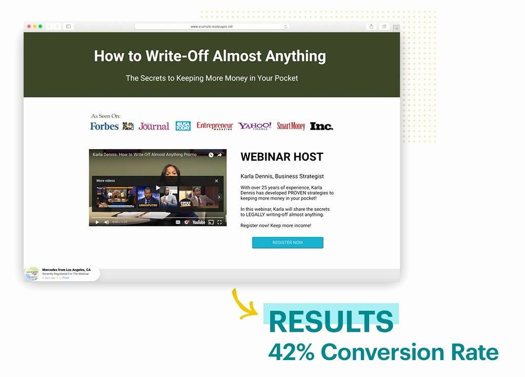 Webinar Landing Page Template WordPress