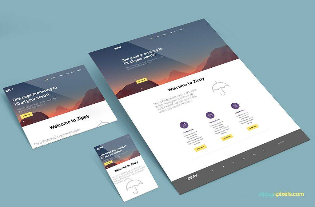 Website Design Mockup Templates